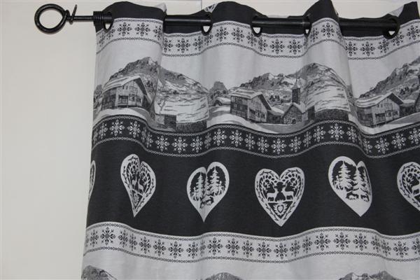 rideau montagne deco chalet la corde a linge. Black Bedroom Furniture Sets. Home Design Ideas